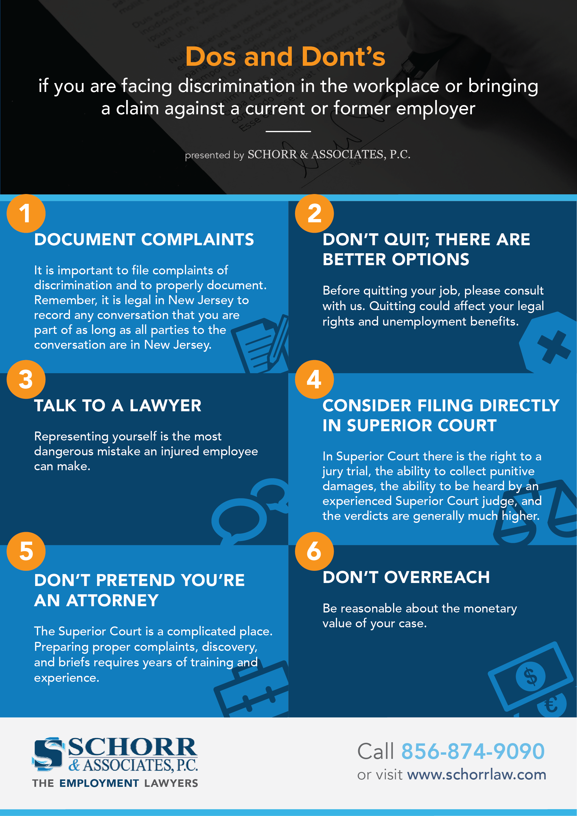 Dos & Dont's if You Are Facing Discrimination Infographic