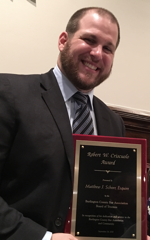 Matthew Schorr has been selected as the 2018 recipient of the Robert W. Criscuolo Award